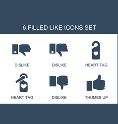 6 like icons vector