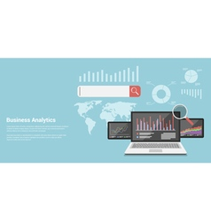 analytics vector image vector image