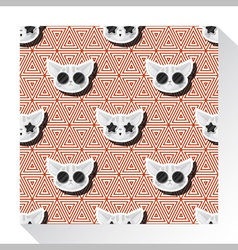 Animal seamless pattern collection with cat 8 vector
