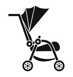baby pram icon simple style vector image