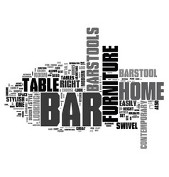 Bar furniture for your home text word cloud vector