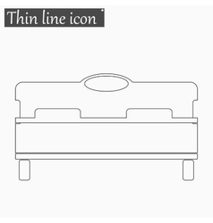 bed icon Style thin line vector image