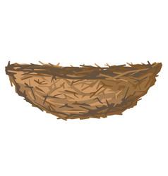 Birds nest isolated vector