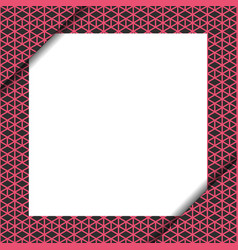 Blank paper on pink geometric pattern vector