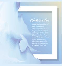 blue watercolor card decoration design vector image