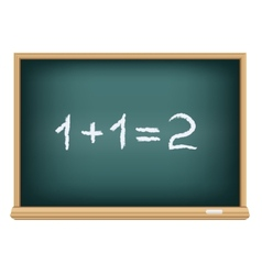 board mathematics vector image