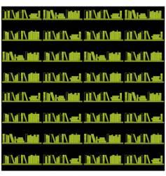 Books on a shelf seamless vector