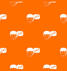 boy head with speech bubble pattern seamless vector image
