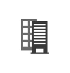 building icon building black vector image