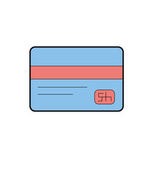 business credit card to buy things vector image