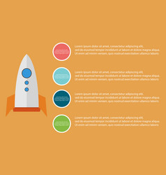 Business infographic step style with rocket vector