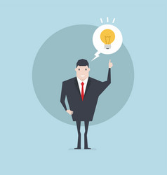 businessman with light bulb get the idea vector image