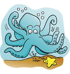 Cartoon Octopus vector