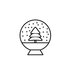 christmas magic ball outline icon element of new vector image