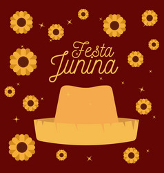 colorful poster festa junina with starry vector image vector image
