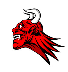 devil satan head mascot vector image