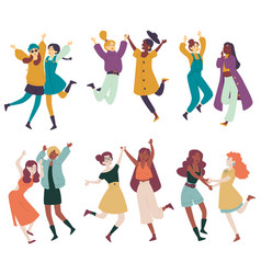diverse women having fun together multi ethnic vector image
