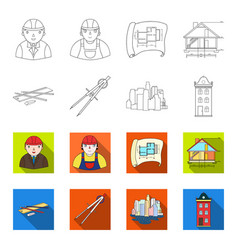 Drawing accessories metropolis house model vector