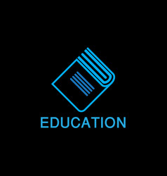 education book logo template vector image