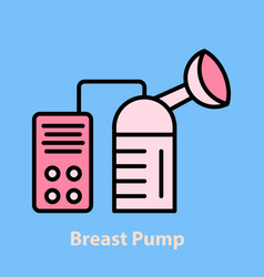electronic breast pump vector image