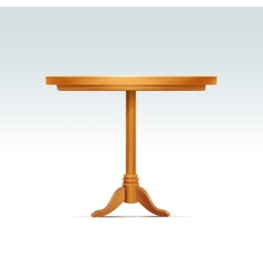 Empty Round Wood Table vector image