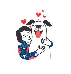 female pet friend poster vector image