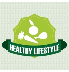 Fitness and healthy lifestyle design vector