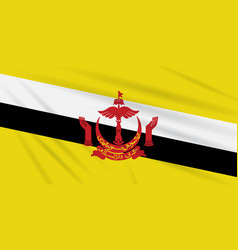 Flag brunei swaying in the wind realistic vector