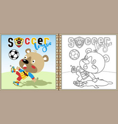 funny soccer player cartoon vector image