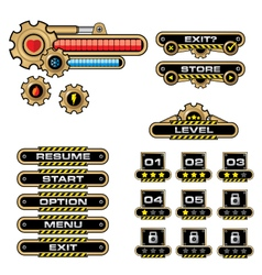 Game User Interface-GEAR vector image