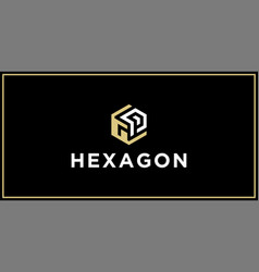 Gp hexagon logo design inspiration vector