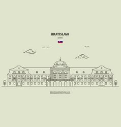 Grassalkovich palace bratislava vector