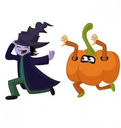Halloween run vector image