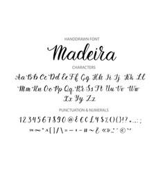 handdrawn script font brush style texture vector image