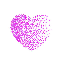 heart pink dots small dots and confetti vector image