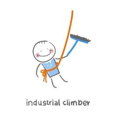 Industrial climber vector