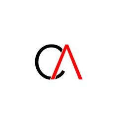 initial letter ca logo template design vector image