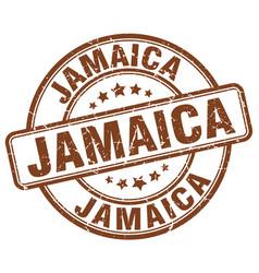 Jamaica brown grunge round vintage rubber stamp vector