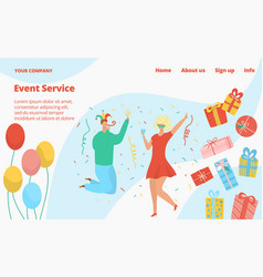 kids birthday party event service with clowns and vector image