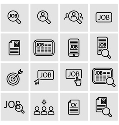 line job search icon set vector image