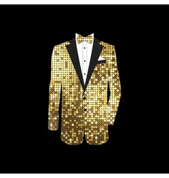 Luxurious gold tuxedo vector