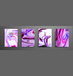 mixture of acrylic paints modern artwork trendy vector image
