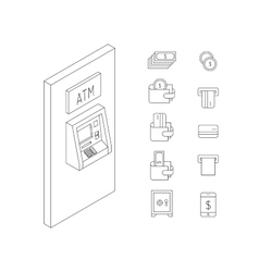 money icon outline vector image