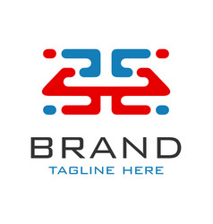 monogram logo design letter h vector image