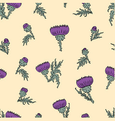 Pattern of the thistle inflorescences vector
