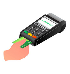 Payment terminal icon isometric style vector