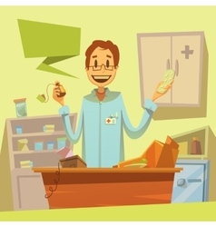 Pharmacy Salesman vector image