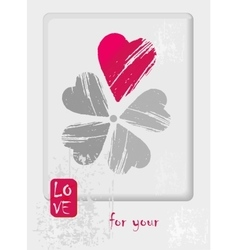 Postcard for Valentin day with flower has a petals vector
