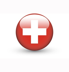 Round icon with national flag of Switzerland vector