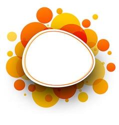 Round orange background vector